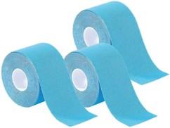 Pack de 3 bandes de kinésiologie pour sport (5 m) - Bleu