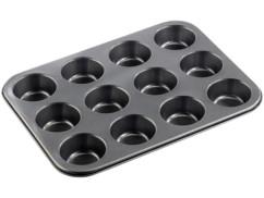 Plaque de cuisson anti-adhésive pour 12 muffins ou cupcakes