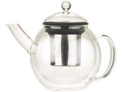 theiere en verre borosilicate style retro avec passe thé en inox integré Cucina di modena