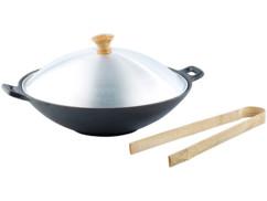 Wok en fonte - diamètre 30 cm