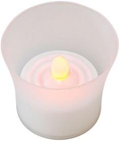 8 bougies chauffe-plat à LED dans photophores