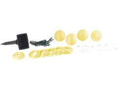 Guirlande LED solaire 1,8 m à 10 mini-lampions - multicolore