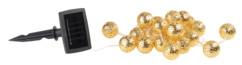 guirlande lumineuse solaire etanche 4m avec 20 boules dorées avec eclairage clignotant lunartec