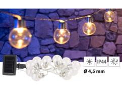 Guirlande lumineuse solaire à LED design ampoule classique - 1,80m