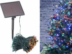 Guirlande lumineuse solaire pour extérieur - 4 couleurs - 50 m