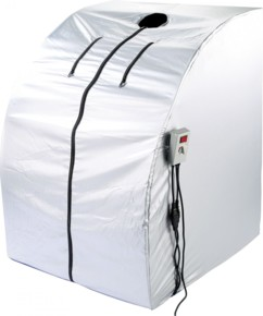 Sauna infrarouge mobile - 1600 W, 2 radiateurs