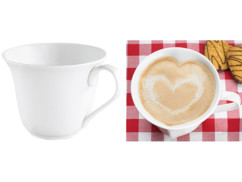 Tasse en porcelaine en forme de cœur