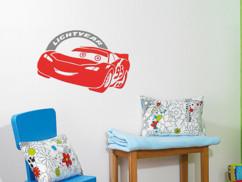 Cars Sticker 3D personnalisable Flash Mcqueen