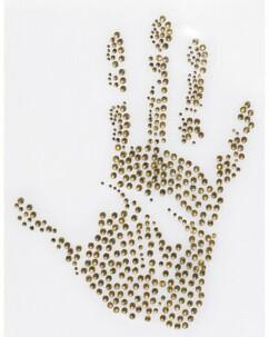 Motif ''Main'' pour vêtements 142 X 184 mm
