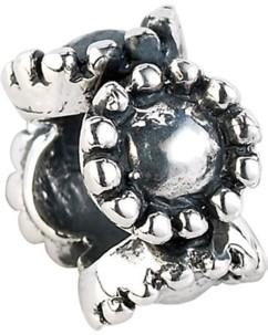 Perle en argent 925/1000 en forme de fleur - grand modèle