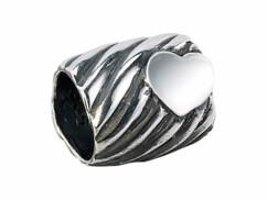 Perle en argent 925/1000  motif cœur