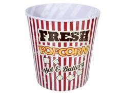 Seau à pop-corn XXL rétro - Rouge/blanc - 17,5 cm