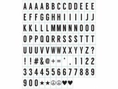 100 caractères noirs 7 x 3,5 cm pour boîte d'affichage lumineux