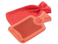 Bouillotte classique en caoutchouc - 1 litre (avec housse rouge)
