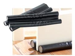 Double boudin isolant pour portes et fenêtres - cuir noir