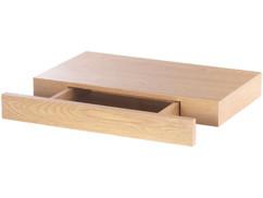 etagere rectangulaire bois de noyer pour entree avec tiroir discret carlo milano