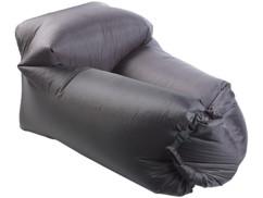 fauteuil de jardin gonflable sans pompe en chambre a air resistante couleur noir
