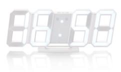 Horloge LED digitale design 3D avec fonction réveil - Grande