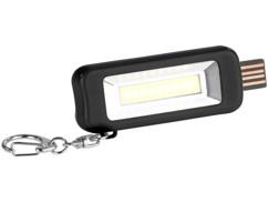 mini lampe de poche led cob rechargeable par usb avec attache porte clé