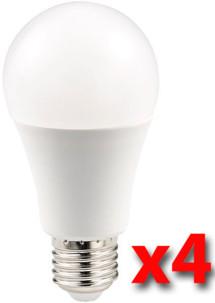 Pack de 4 ampoules LED 7 W E27 haute efficience énergétique - lumière du jour