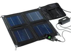 grand panneau solaire mobile avec regulateur et fiches dock usb micro usb mini usb 15w pour trekking