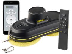 robot laveur de vitre avec commande a distance par télécommande ou application smartphone android ios Sichler