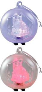 2 Boules de Noël en verre soufflé à LED