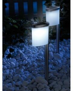 2 Lanternes LED solaires ''Slim Light''