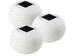 3 lampes à LED solaires ''Méditerranée''