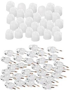 30 LED à couleur changeante + capuchons blancs