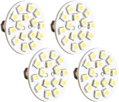4 Ampoules 15 LED SMD G4 blanc froid