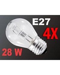 4 Ampoules halogène E27 28 W
