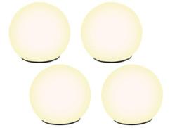 4 boules lumineuses à LED solaire Ø 9 cm