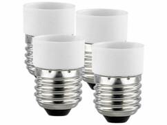 4 convertisseurs de douilles - Culot E27 vers ampoule E14