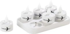 6 bougies plates télécommandées à LED