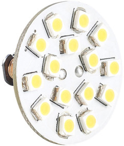Ampoule 15 LED SMD G4 blanc chaud