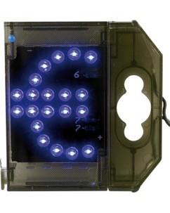 Caractère spécial lumineux à LED - '' € '' bleu