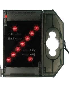 Caractère spécial lumineux à LED - '' % '' rouge