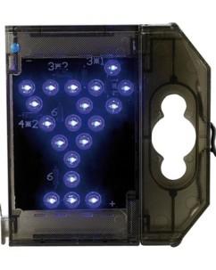 Caractère spécial lumineux à LED - '' Verre cocktail '' bleu