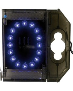 Chiffre lumineux à LED - ''0'' bleu