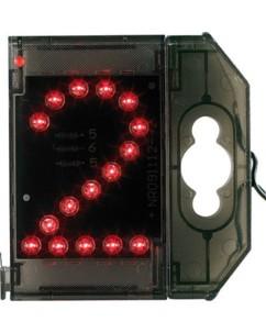 Chiffre lumineux à LED - ''2'' - Rouge