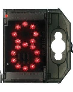 Chiffre lumineux à LED - ''8'' rouge