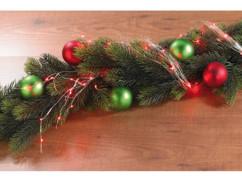 Guirlande décorative en fil métallique à LED rouges