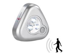Lampe à LED mobile à détecteur de mouvements ''Stick & Go'' - Argent