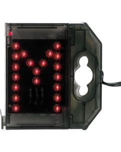 Lettre lumineuse à LED - ''M'' rouge