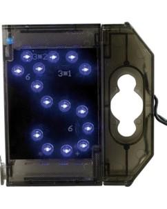 Lettre lumineuse à LED - ''S apostrophe'' bleu