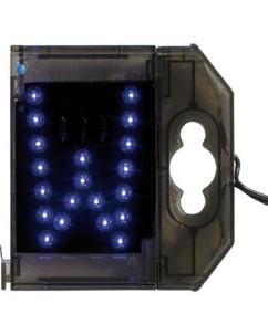 Lettre lumineuse à LED - ''W'' bleu