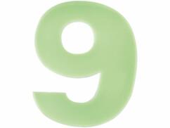 Numéro de maison phosphorescent - ''9''