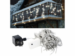 """Rideau de lumière """"Snow"""" - Blanc chaud"""