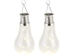 2 ampoules solaires à LED design classique 2 lm 0,024 W - Blanc chaud
